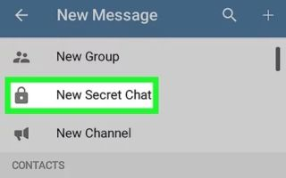What is a secret chat in Telegram