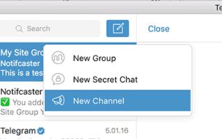Adding channels to Telegram